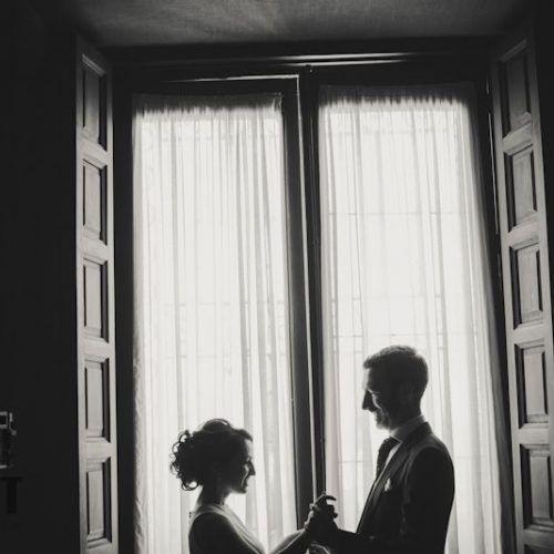 foto de boda blanco y negro