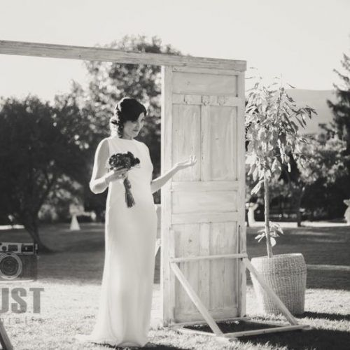 foto de novia con su ramo