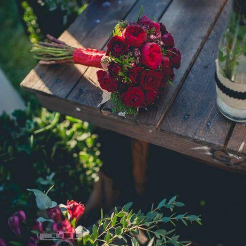 ramo de novias rosas rojas