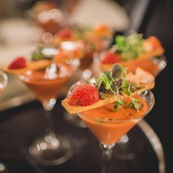 Cocktail boda, Gazpacho con Fresas boda